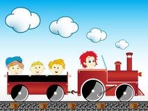 dziecko pociąg ilustracji