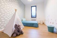 Dziecko pokój z tipi namiotem Obrazy Royalty Free