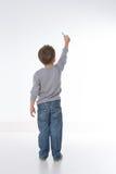 Dziecko pokazywać od behind obraz royalty free