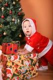 dziecko pomagier Santa Obrazy Stock