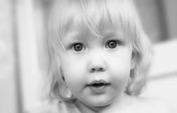 Dziecko portret w wysokiej kluczowej technice Obraz Stock