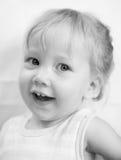 Dziecko portret w wysokiej kluczowej technice Zdjęcie Royalty Free