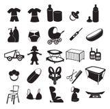 dziecko produkty ilustracja wektor
