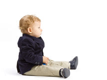 Dziecko profil Fotografia Stock