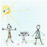 dziecko projekt lubi ilustracja wektor