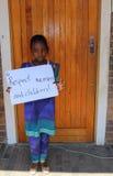 Dziecko protest przeciw nadużyciu Johannesburg Południowa Afryka Obrazy Royalty Free