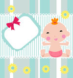Dziecko prysznic karta ilustracji