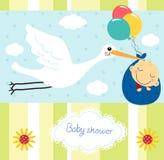 Dziecko prysznic karta Zdjęcie Royalty Free