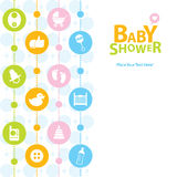 Dziecko prysznic karta Zdjęcia Stock