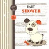 Dziecko prysznic z ślicznym psem Fotografia Stock