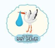 Dziecko prysznic zaproszenia karta Zdjęcia Royalty Free