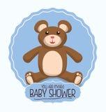 Dziecko prysznic zaproszenia karta Zdjęcie Stock