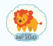 Dziecko prysznic zaproszenia karta Obraz Royalty Free