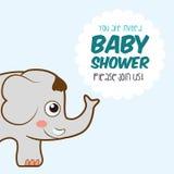 Dziecko prysznic zaproszenia karta Obrazy Royalty Free
