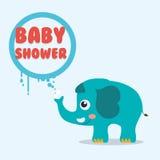 Dziecko prysznic zaproszenia karta Zdjęcia Stock