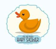 Dziecko prysznic zaproszenia karta Fotografia Royalty Free
