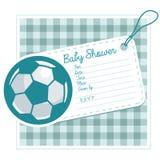 Piłki nożnej dziecka prysznic Zaprasza kartę Zdjęcie Royalty Free