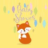 Dziecko prysznic zaproszenia wektoru karta royalty ilustracja