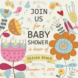 Dziecko prysznic zaproszenie ilustracji