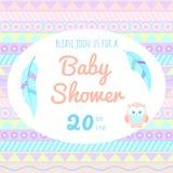 Dziecko prysznic zaproszenie w boho stylu Obrazy Stock