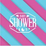 dziecko prysznic znaka koloru linii tło Fotografia Royalty Free