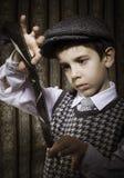 Dziecko przemyślany analogowy fotograficzny film obrazy stock