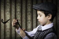 Dziecko przemyślany analogowy fotograficzny film zdjęcia stock