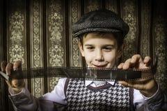 Dziecko przemyślany analogowy fotograficzny film fotografia stock