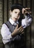Dziecko przemyślany analogowy fotograficzny film obrazy royalty free