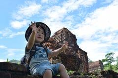 Dziecko przygoda przy Mison światowym dziedzictwem Zdjęcie Stock