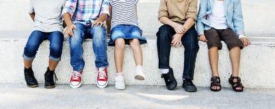 Dziecko przyjaźni więzi szczęścia Figlarnie pojęcie Zdjęcie Stock