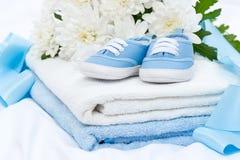 Dziecko ręcznik i łupy Fotografia Stock
