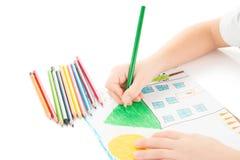 Dziecko ręki rysunek Zdjęcie Stock
