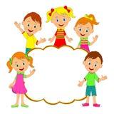 Dziecko rama dzieciaki, chłopiec, dziewczyny, i ilustracji