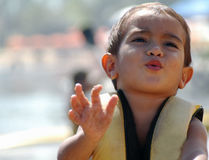 dziecko ratownika używane Fotografia Stock
