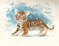 dziecko rok nowy tygrysi Fotografia Stock