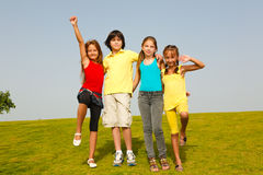 dziecko rozochocona grupa Zdjęcie Royalty Free