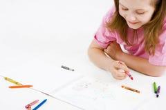 dziecko rysunek Fotografia Royalty Free