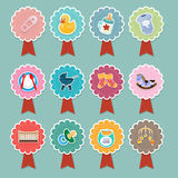 Dziecko rzeczy ikony Fotografia Stock