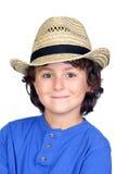 dziecko słoma śmieszna kapeluszowa obraz royalty free