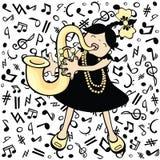 dziecko saksofon Fotografia Stock