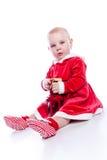 dziecko Santa zdjęcie royalty free