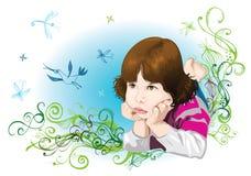 dziecko sen ilustracja wektor