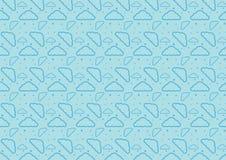 Dziecko sen czasu chmury bezszwowy deseniowy pełny resizable editable wektor w błękitnym kolorze ilustracja wektor