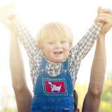 dziecko się uśmiecha Fotografia Royalty Free