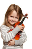 dziecko skrzypce Fotografia Royalty Free