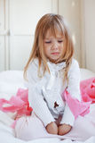 dziecko smutny obraz royalty free