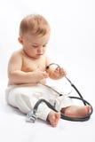 dziecko stetoskop Zdjęcie Royalty Free