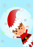 dziecko strój Santa Obraz Royalty Free
