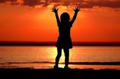 dziecko sylwetka Zdjęcie Royalty Free